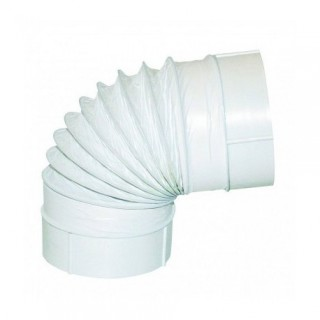 Coude à angle variable Ø 100 ou 125 mm - CAVC [- conduits PVC de Ventilation - Atlantic]