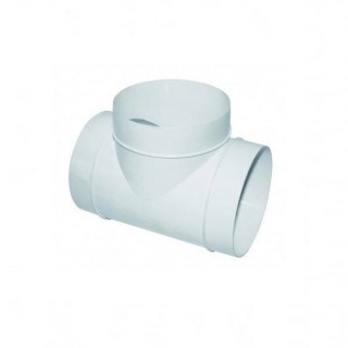 Té circulaire à 90° Ø 100 ou 125 mm - TEHC [- conduits PVC de Ventilation - Atlantic]