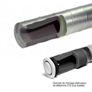 Atténuateur de téléphonie ETS Ø 100 et 125 mm [- Silencieux VMC - HELIOS]