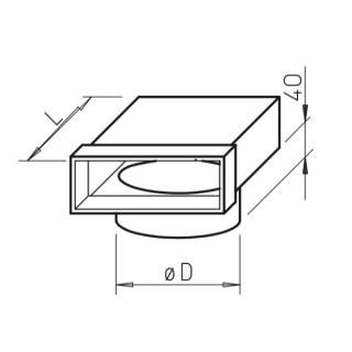 Coude vertical mixte pour conduit circulaire - FK-ER [- Conduits plats en acier galvanisé - Helios]