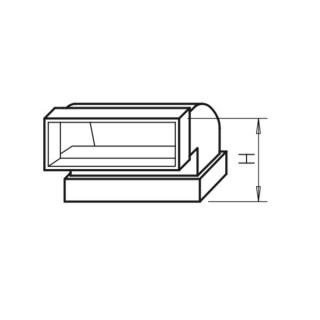 Coude vertical 90° - FK-BV [- Conduits plats en acier galvanisé - Helios]