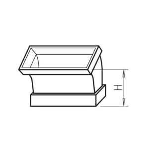 Coude vertical 45° - FK-BV [- Conduits plats en acier galvanisé - Helios]