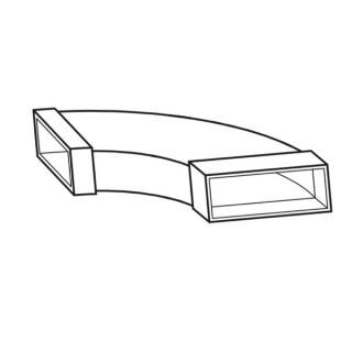 Coude horizontal 90° - FK-BH [- Conduits plats en acier galvanisé - Helios]