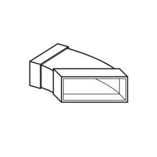 Coude horizontal 45° - FK-BH [- Conduits plats en acier galvanisé - Helios]