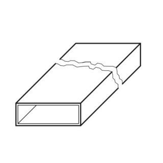 Conduit plat - 1,5 m - FK [- Conduits plats en acier galvanisé - Helios]
