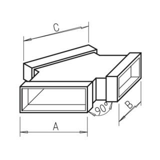 Culotte horizontale - FK-Y [- Conduits plats en acier galvanisé - Helios]