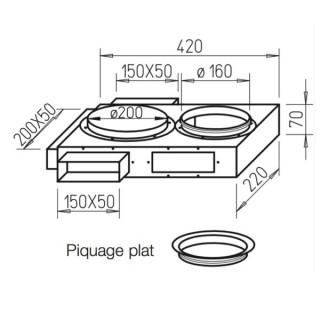 Collecteur mixte - FK-VK [- Conduits plats en acier galvanisé - Helios]