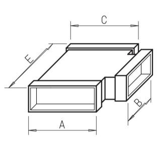 Té horizontal - FK-T [- Conduits plats en acier galvanisé - Helios]