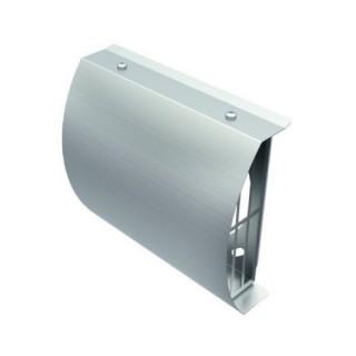 Grille de prise d'air neuf en façade Ø 125, 160 et 180 mm (IP-FBA) - Raccordement conduits PE isolés [- Réseau VMC - Helios]