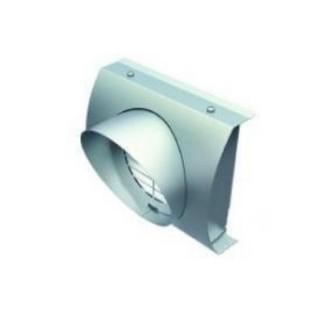 Grille de rejet d'air en façade Ø 125, 160 et 180 mm (IP-FBF) Raccordement conduits PE isolés [- Réseau VMC - Helios]
