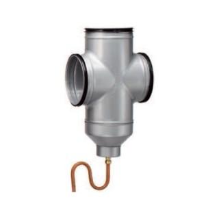 Double Té avec siphon et collecteur de condensats - LEWT-F SIPHON 200 [- Géoventilation / Puits canadien - Helios]