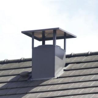 Sortie de toit esthétique pour toiture tuile (avec kit étanchéité) - Ø 125 à 630 mm [- STE - accessoire VMC - Aldès]
