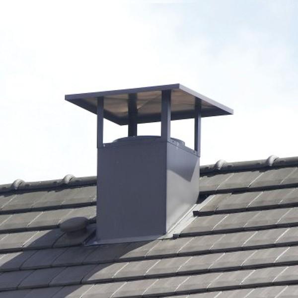 Sortie de toit esthétique pour toiture bac acier, terrasse ou ardoise - Ø 125 à 630 mm [- STE ...