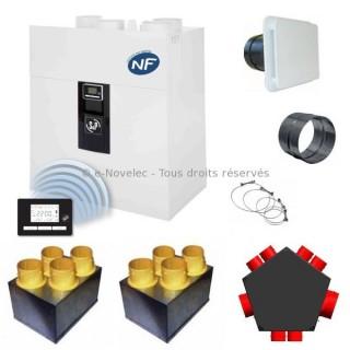 Kit P04 IDEO² 325 Ecowatt Radio - Promotion avec nouvelle VMC IDEO [- VMC Double flux Très Haut Rendement - 600086 - Unelvent]