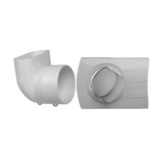 Kit Insufflation BIO Design Ø 80 pour Minigaine Aldes [- Kits bouches réseau PVC oblong - ALDES]