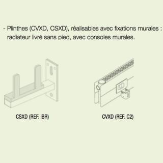 """Option """"Fixation murale"""" pour radiateurs CVXD et CLXD (Radiateur livré sans pieds) [- Option de fabrication - ACOVA]"""