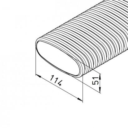 Conduit flexible plat 20 mètres - FRS-R [- Conduits et accessoires VMC en PE - Réseau FlexPipe Plus - Helios]