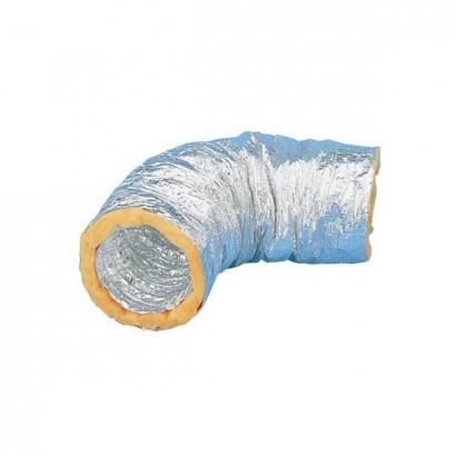 Gaine calorifugée 25 ou 50 mm - GSI - 10 mètres - T max + 250°C - Ø 80 à 500 mm [- Conduits Ventilation - Unelvent]