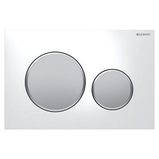 SIGMA 20 Blanc / chromé mat / chromé mat [- Plaque de déclenchement 2 touches - Geberit]