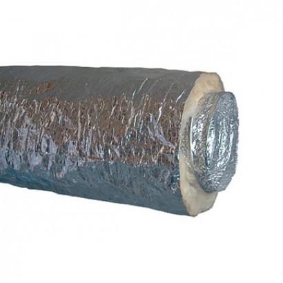 Gaine Algaine Alu Calorifugée - 10 mètres - Ep. 25 mm - T max + 250°C - Ø 80 à 500 mm [- Gaines souples - ALDES]