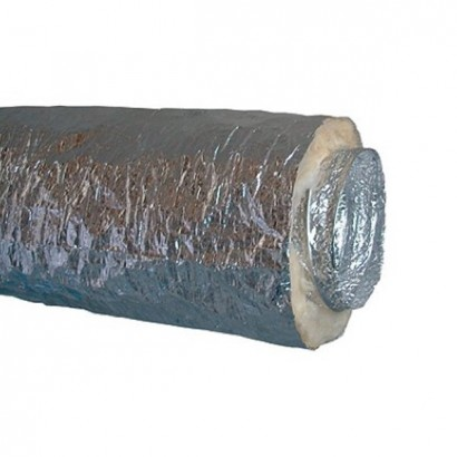 Gaine Algaine Alu Insonorisée - 10 mètres - T max + 250°C - Ø 80 à 500 mm [- Gaines souples - ALDES]