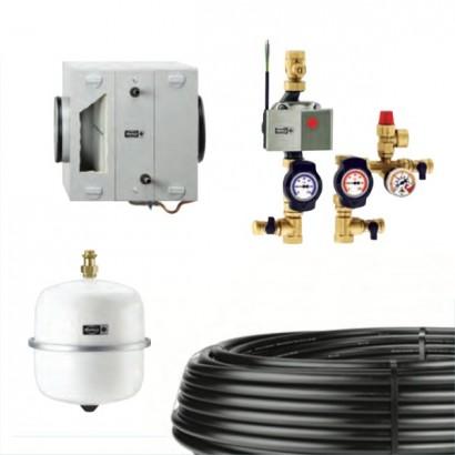 Kit puits canadien à eau glycolée pour VMC de 300 à 350 m3/h - Kit SEWT [- Puits canadien à eau glycolée - Helios]