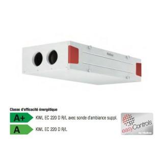 KWL EC 220 D version 3.0 - Gamme passive - Montage plafonnier [- VMC Double flux Très Haut Rendement - Helios]