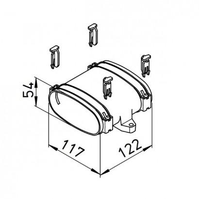 Manchon pour conduit plat FlexPipe - FRS-VM [- Conduits et accessoires VMC en PE-HD - Réseau FlexPipe - Helios]