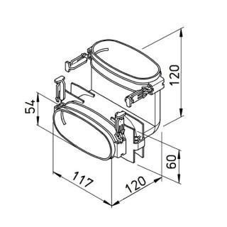 Coude vertical pour conduit plat FlexPipe - FRS-BV 51 [- Conduits et accessoires VMC en PE-HD - Réseau FlexPipe - Helios]