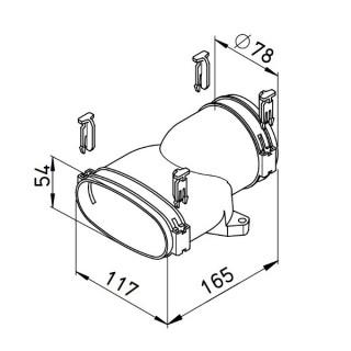 Raccord mixte droit - FRS-UG 51-75 [- Conduits et accessoires VMC en PE-HD - Réseau FlexPipe - Helios]