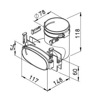 Raccord mixte vertical - FRS-UV 51-75 [- Conduits et accessoires VMC en PE-HD - Réseau FlexPipe - Helios]