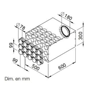 Collecteur intermédiaire 15 piquages pour conduits Ø 75 mm [- FRS-VK 15-75/180 - Réseau FlexPipe - Helios]
