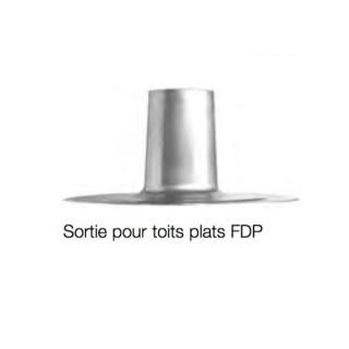 Sortie de toit plat pour Chapeau DH - Ø 100, 125 et 160 mm - FDP [- Sortie de toiture - Helios]