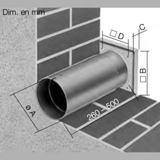 Kit de montage mural avec grille pour MiniVent et HelioVent [- accessoire VMC - HELIOS]
