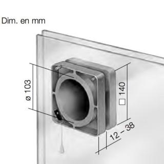Kit de Montage sur Vitre pour ventilateur HR 90 KE [- FES 90 - Helios]