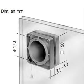 Kit de Montage sur Vitre pour ventilateur HVR 150 [- FES 150 - Helios]