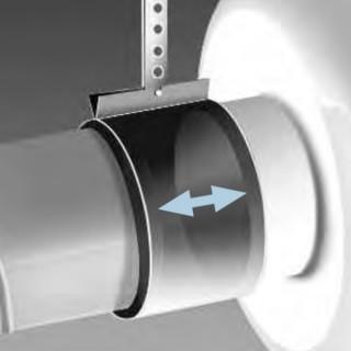 Colliers de fixation pour raccordement de ventilateurs sans transmission de bruit - BM [- Fixation Ventilateurs - HELIOS]