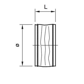 Manchette simple - FM - Ø 100 à 710 [- Raccordement - HELIOS]