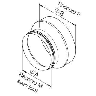 Pièce de forme pour puits canadien Ø 200 - IP-ARZ [- Réduction - HELIOS]