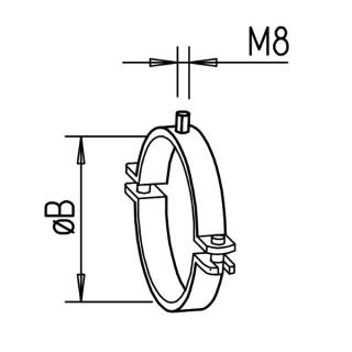Collier - Série IsoPipe - IP-S [- Accessoires conduits PE - HELIOS]