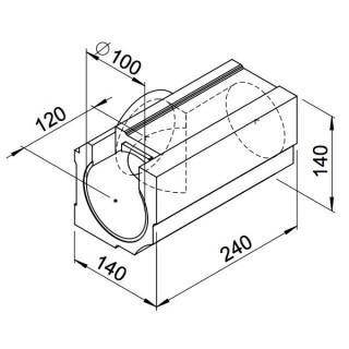 Té horizontal - lot de 4 pièces - (RP-T et RP-ST) [- Conduits VMC apparents - Réseau RenoPipe - Helios]