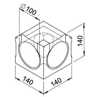 Coude intérieur - lot de 2 pièces - (RP-IW et RP-SIW) [- Conduits VMC apparents - Réseau RenoPipe - Helios]