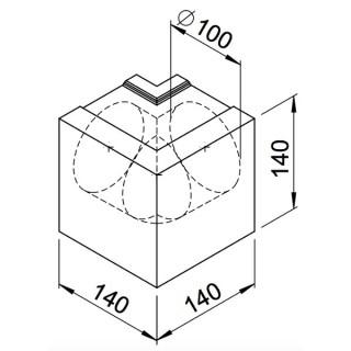 Coude extérieur - lot de 2 pièces - (RP-AW et RP-SAW) [- Conduits VMC apparents - Réseau RenoPipe - Helios]