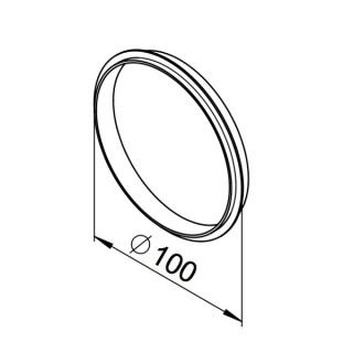 Joints à lèvre DN100 - lot de 10 pièces - (RP-LD) [- Conduits VMC apparents - Réseau RenoPipe - Helios]