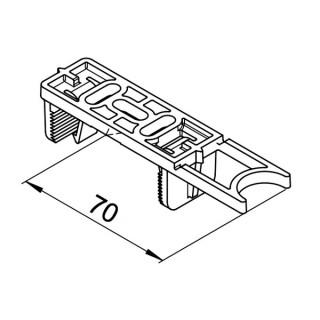 Attache de fixation - lot de 5 pièces - (RP-BK) [- Conduits VMC apparents - Réseau RenoPipe - Helios]