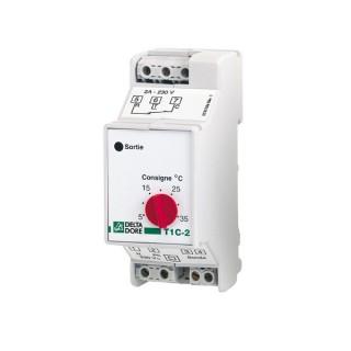 T1C-2 5-35 [- Thermostat modulaire tout ou rien à 1 consigne - Delta Dore]