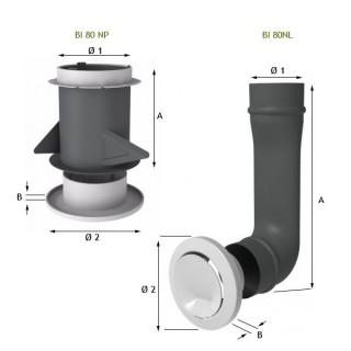 Bouches d'insufflation à débit fixe [- Bouche VMC double-flux - Atlantic]