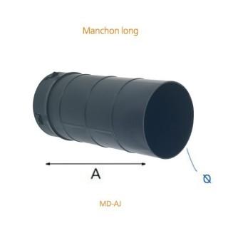 Manchon long pour bouches hygro Ø 80 et 125 mm [- MD-AJ - accessoires VMC - Atlantic]