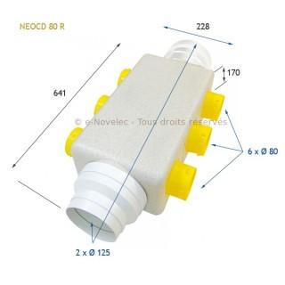 Caisson collecteur de reprise NEOCD 80 R - avec régulateurs [- Répartiteur VMC - Atlantic]