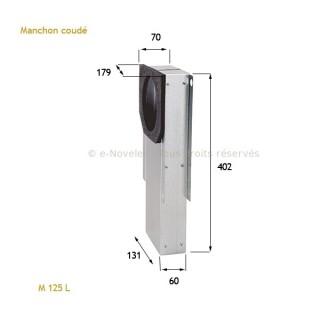 Manchon coudé pour bouche hygro Ø 125 mm [- accessoires VMC - Atlantic]